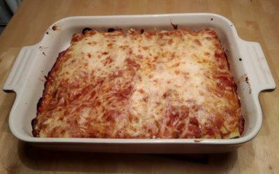 Überbackene Cannelloni mit Erbsen-Ricotta-Füllung