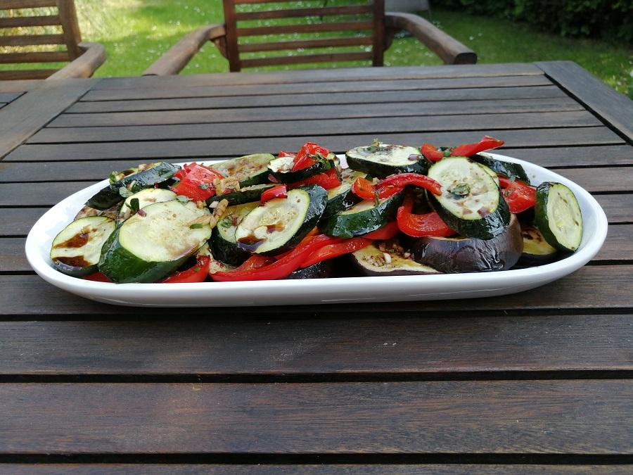 Salat aus Ofengemüse