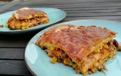 Feurig: Mexikanische Enchilada-Lasagne