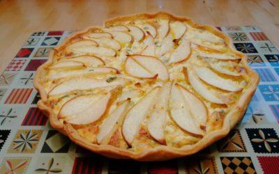 Quiche mit Birne, Gorgonzola und Estragon