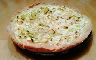 Lauchkuchen mit Pizzateig