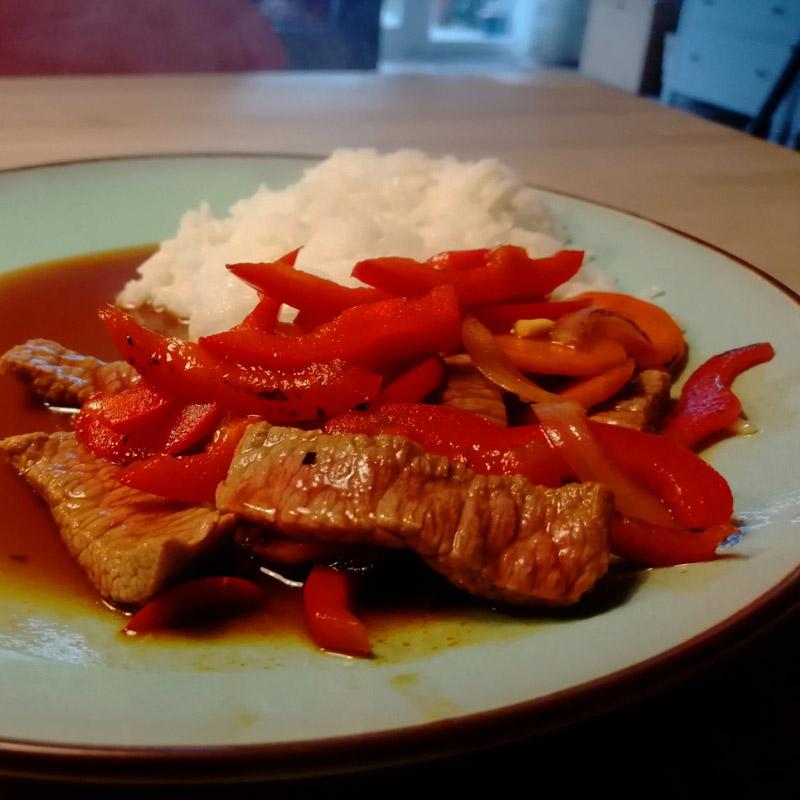 Rindfleisch Teriyaki mit Gemüse